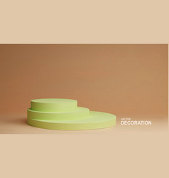Minimal scene podium for cosmetic product vector