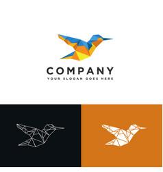 modern geometric low poly bird logo icon template vector image