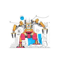 Modern robot loader vector