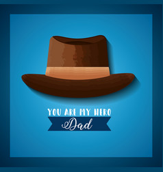 my hero dad card vector image