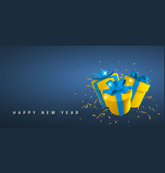 New year and christmas background 3d realistic vector