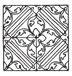 Painting pattern is an italian renaissance design vector