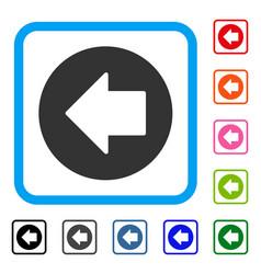 Previous arrow framed icon vector