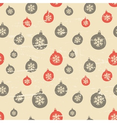 Retro style seamless Christmas baubles pattern vector image