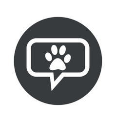 Round dialog pet icon vector