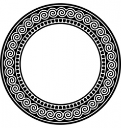 round frame with a meander vector image
