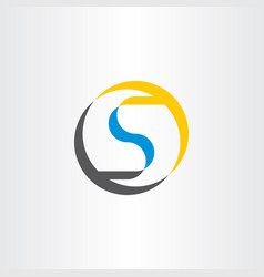 s symbol logotype letter circle vector image