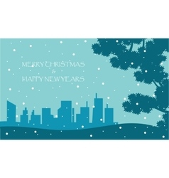 Scenery winter New Years and Christmas vector