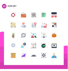 Set 25 commercial flat colors pack for layout vector