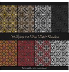 Set luxury and ethnic batik nusantara indonesian vector