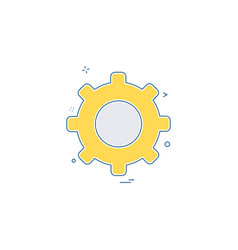 setting icon design vector image
