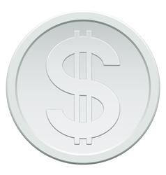 Silver coin vector