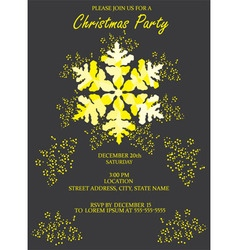 Snowflake invitation vector