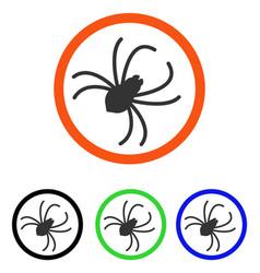Spider flat icon vector