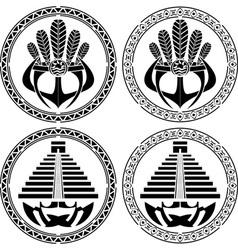 stencils native indian american masks vector image