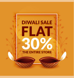 stylish diwali discount and sale banner template vector image