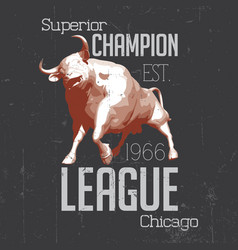 Superior chicago champion poster vector