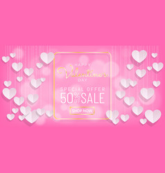 Sweet valentines day sale pink background vector