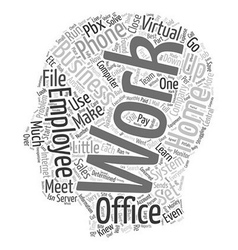 The Virtual Office Run Your Business From Home vector