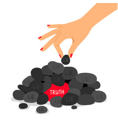 Truth and lie concept vector