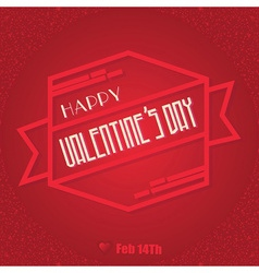 Valentines day design element vector image