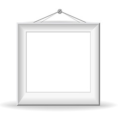 White picture frame vector