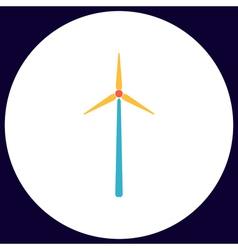 Windmill computer symbol vector