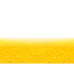 yellow tile perspective background vector image