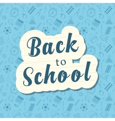 Back to school words banner on bubble vector image vector image