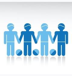 Boys Friendship Row vector image