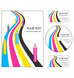 corporate design layout vector image