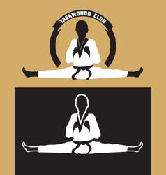 Karate club logo vector