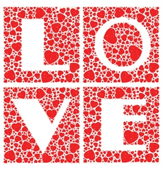 Love Heart Shaped vector image vector image