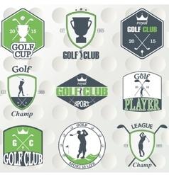 Set of vintage golf labels badges and emblems vector image