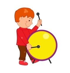 Cartoon musician kid for vector image vector image