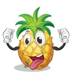 cartoon pineapple vector image