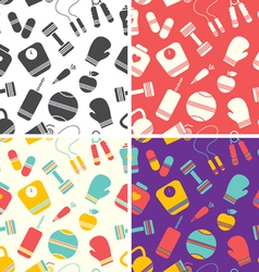 Fitness pattern vector image