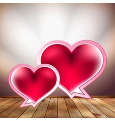 Heart speech bubble design template EPS 10 vector image