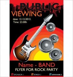 public banner rock party vector image vector image