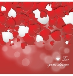 red hearts background vector image