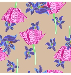 Stock floral seamless background vector image