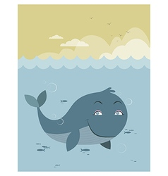 Whale at sea vector image vector image