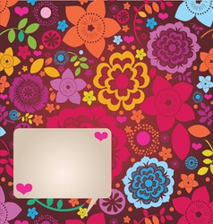 floral ornamental greeting card vector image