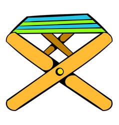 folding chair icon icon cartoon vector image