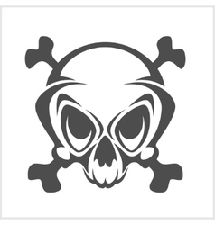 Pirate emblem - Jolly Roger skull and cross vector image vector image