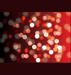 Red bokeh abstract light background vector