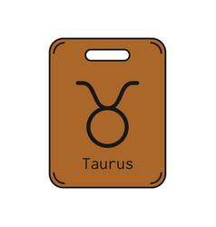 taurus sign of the zodiac flat symbol horoscope vector image vector image