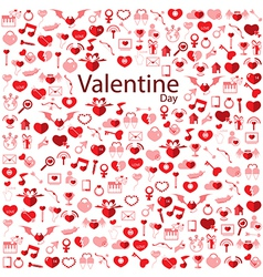 Template Background Valentines day Love icon vector image vector image