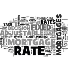 Adjustable rate mortgages good or bad text word vector