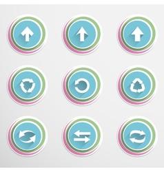 Arrow buttons vector image vector image